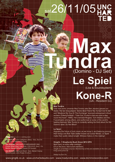 Uncharted Sessions - Max Tundra, Le Spiel, Kone-R
