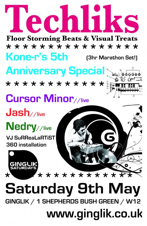 TECHLIKS Koner 5th Anniversary Special flyer